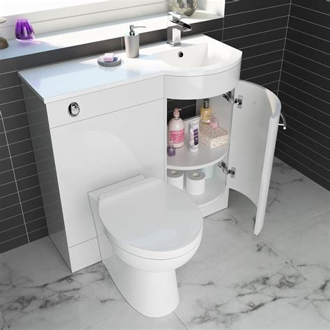 curved bathroom units 900mm curved bathroom vanity unit with basin and toilet ebay
