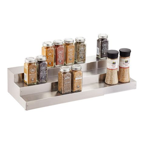 3 tier kitchen cabinet organizer 3 tier stainless steel expanding spice shelf the