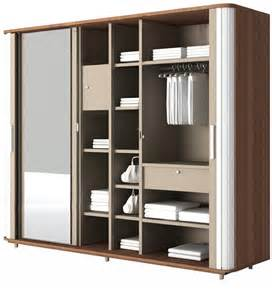 Contemporary Queen Bedroom Set - hyacinth wardrobe in cincinnati walnut finish by godrej interio by godrej interio online