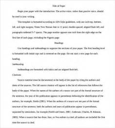 Apa Essay Format Template by Sle Apa Outline Template 8 Free Documents In Pdf
