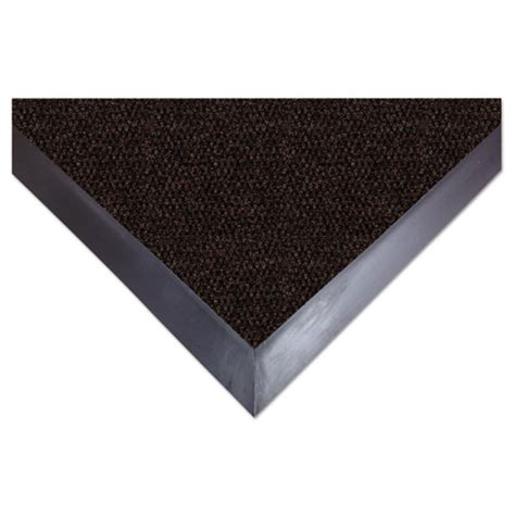 eliteguard indoor outdoor floor mat 36 x 60 chocolate webofficemart com