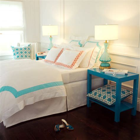 turquoise and orange bedroom turquoise blue ls contemporary bedroom haute home