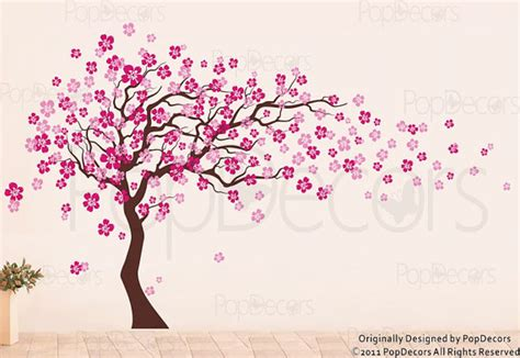 wall stickers cherry blossom tree cherry blossom tree wall decal 83inch h nursery floral