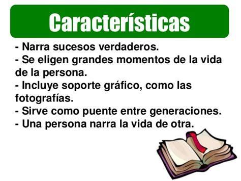 Caracteristicas De Una Biografia Y Autobiografia | biograf 237 a y autobiogr 225 f 237 a