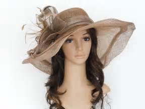 Kentucky derby wedding sinamay wide brim dress hat cc2963 taupe ebay