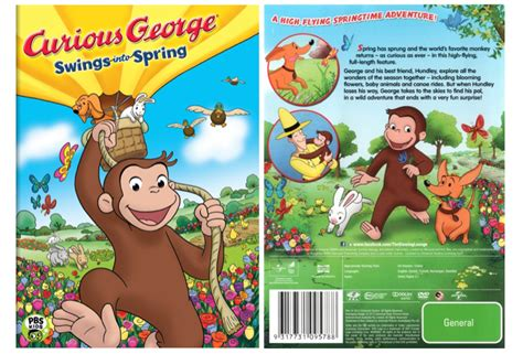 curious george swing into spring 4 reg 15 curious george swings into spring dvd