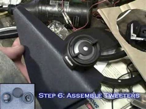 install car speakers  passive crossovers mid