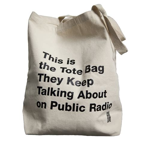 Stop The Market Bag Insanity In My Bag by Radio Tote Bag