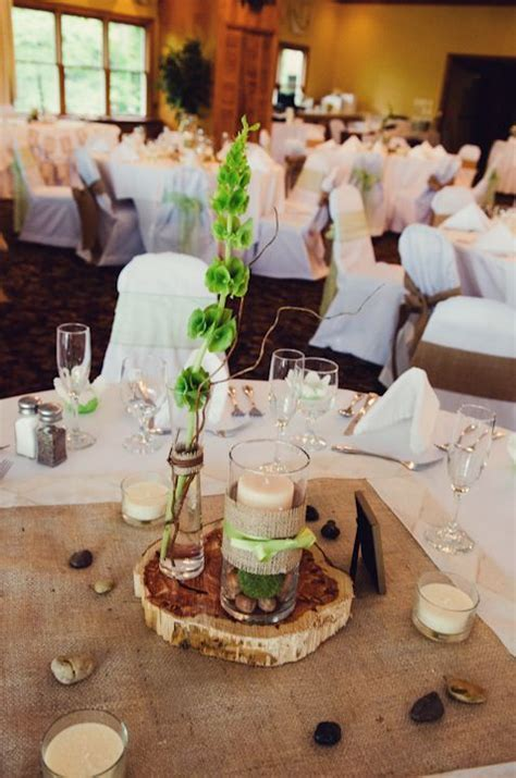 wedding reception tables   mountain rustic themed   budget