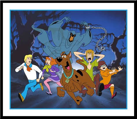 scooby doo painting free artist barbera limited edition sericel