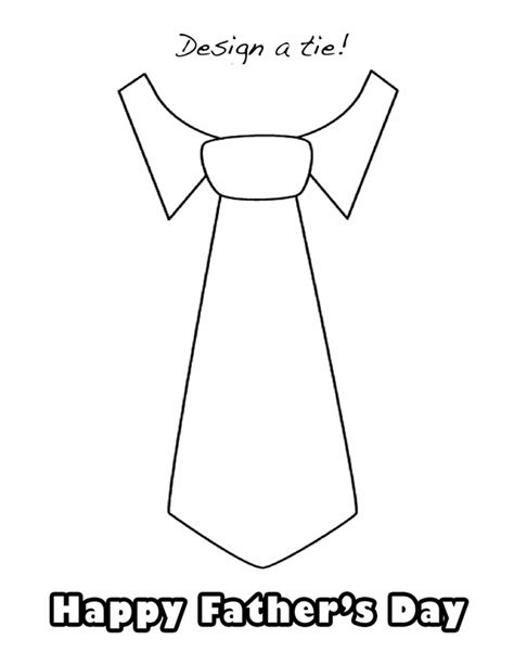 Shirt And Tie Coloring Page Coloring Pages Tie Coloring Page