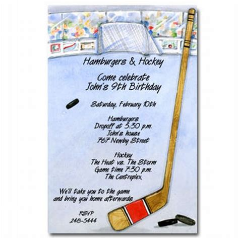 printable birthday cards hockey theme 40th birthday ideas hockey birthday invitation templates free