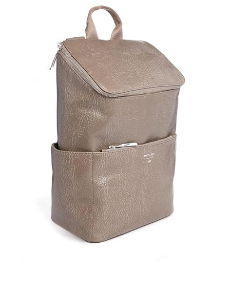 Mat Nat by Matt Nat Brave Simple Backpack In Taupe In Brown Lyst