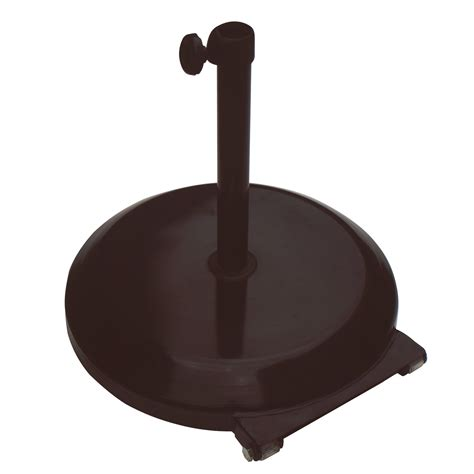 Patio Umbrella Base With Wheels California Umbrella 75 Lbs Umbrella Base With Wheels Patio Umbrella Stands At Hayneedle