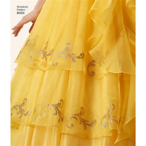 pattern for belle s yellow dress 8404 disney beauty and the beast costume for misses