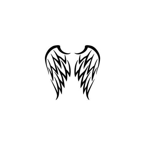tattoo tribal angel wings tribal angel wings tattoo by katerlin liked on polyvore