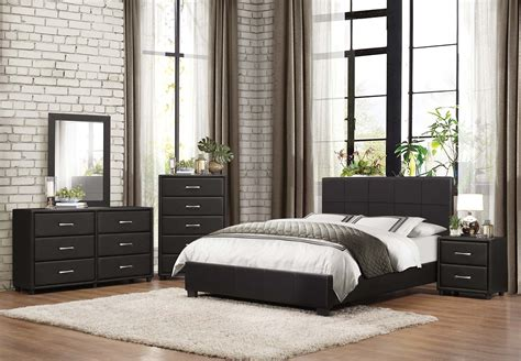 platform bed black homelegance lorenzi upholstered platform bedroom set