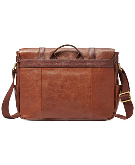Fossil Perry East West Messenger Bag by Fossil Estate East West Messenger Bag In Brown For Lyst