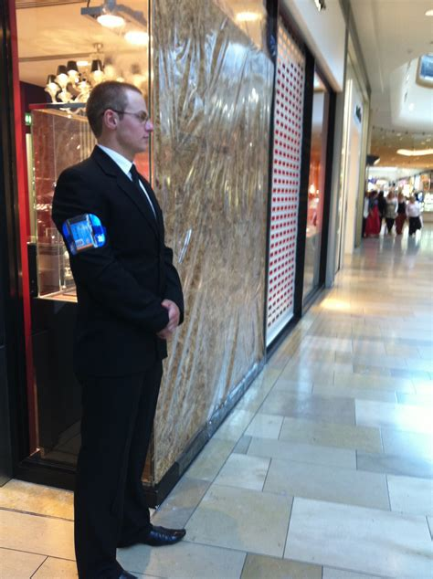 Retail Security Guard by Retail Security Security Guard On Duty In Lewisham Shopping Centre Uk Security