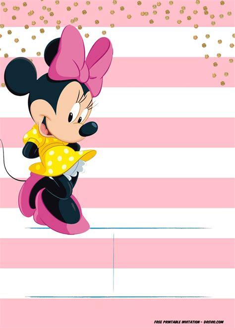 minnie mouse invitation template editable