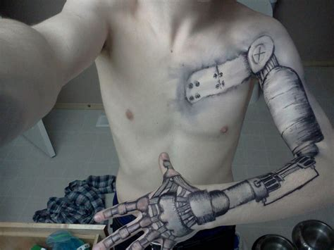 pin arm tattoo robotic design gallery 101tattoos on pinterest