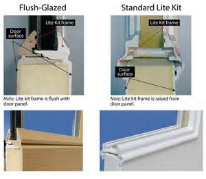 doors with blinds between glass flush glazed vs lite kit codel entry systems