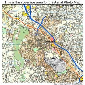 aerial photography map of marietta ga