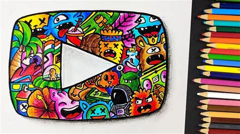 Custom Doodle custom play button doodle artwork how to draw