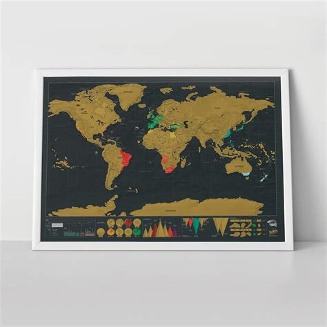 Home Decoration With Paper by Scratch Map 174 Deluxe Edition