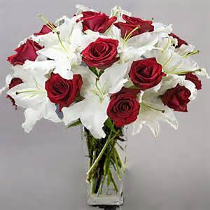 roses and lilies roses white lilies flowers in delivery send orchids flowers