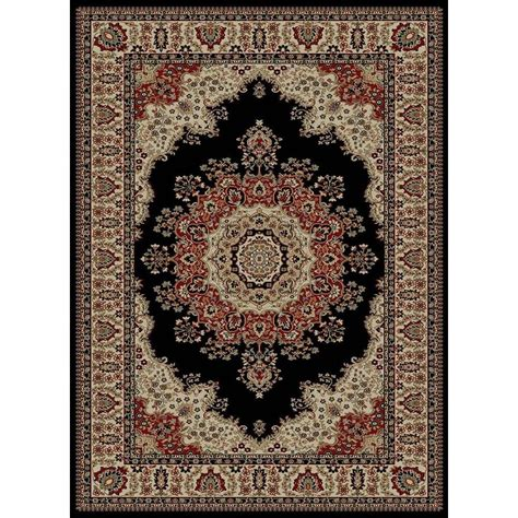 12 X 9 Area Rug Tayse Rugs Sensation Black 8 Ft 9 In X 12 Ft 3 In Traditional Area Rug 4703 Black 9x12 The