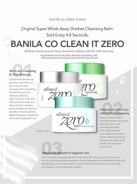 Banila Co Clean It Zero Purity 100 Ml banila co clean it zero 100ml purity for sensitive skin kbeauty original