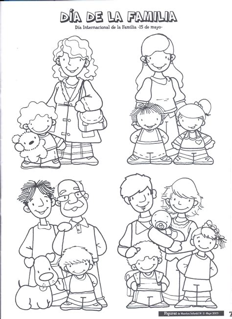 imagenes para colorear mis xv familia15