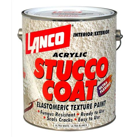 home depot paint one coat lanco stucco coat 1 gal acrylic ultra white elastomeric