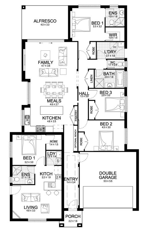 dual living floor plans new home builders newport dual 24 granny flats dual