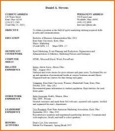 Undergraduate Sample Resume sample undergraduate example undergraduate student resume example