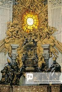 heilige stuhl apsis dom st europa heiliger petrus italien