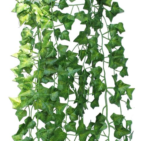 Vine Search Binen 12 Packs Artificial Hanging Vine Plant Leaves Garland Plants Foliage