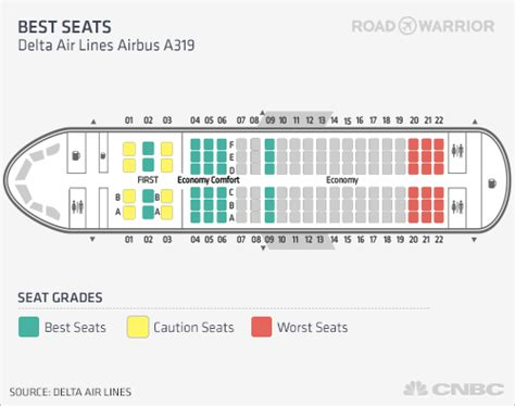 a319 seat map best seats delta air lines airbus a319