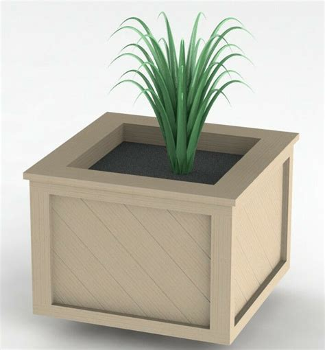 square nantucket planter box woodworking plans easy