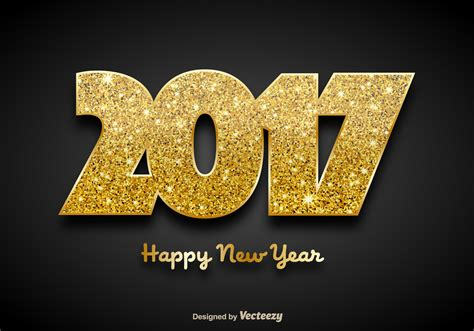 new year vector golden 2017 happy new year background vector