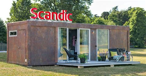 House To Go Scandic To Go Shipping Container Makes For A Cozy Hotel Room