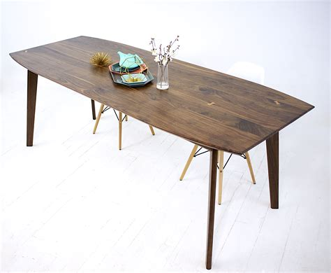mid century modern dining table buy a custom santa barbara mid century modern dining