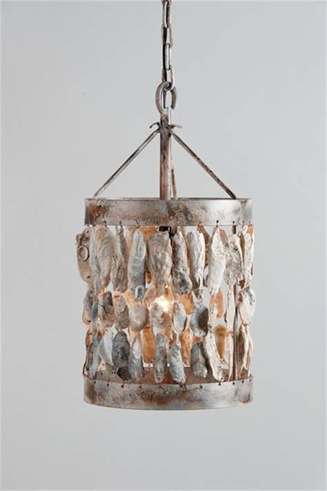 Shell Light Fixtures Oyster Shell Light Fixture Coastal Living Pinterest