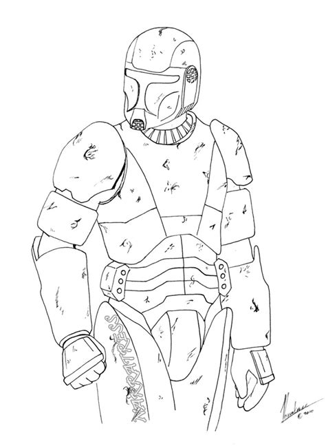 Wars Republic Commando Coloring Pages Coloring Pages