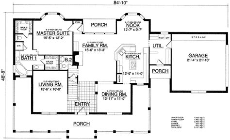 Sweet Home Floor Plan by Home Sweet Home 74063rd Architectural Designs House