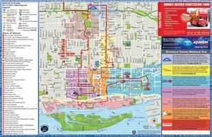 canada tourist map toronto sightseeing map