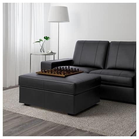 kivik divano kivik footstool grann bomstad black ikea