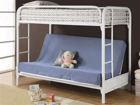 white metal bunk bed with futon cute futon bunk bed couch with funny snoopy doll for your