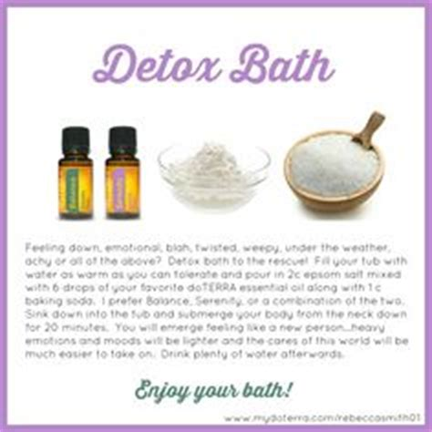 Detox Bath Recipes To Lose Weight by Doterra Essential Stickers Qty1 Your Tools